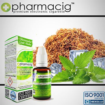 30ml TOBACCO & MINT 18mg eLiquid (With Nicotine, Strong)