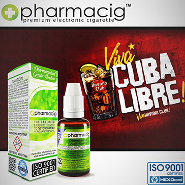 30ml CUBA LIBRE 18mg eLiquid (With Nicotine, Strong)